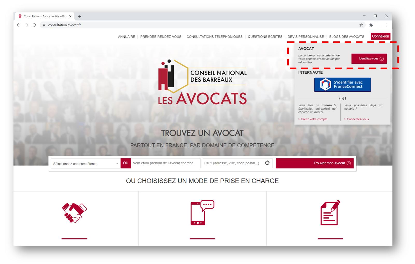 Inscription à avocat.fr