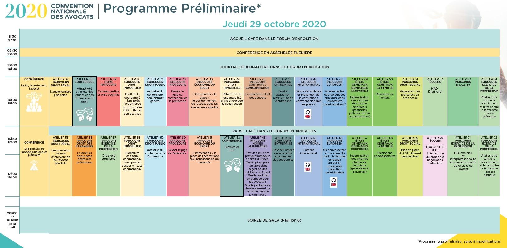 CNDA 2020 - Programme du 29 octobre