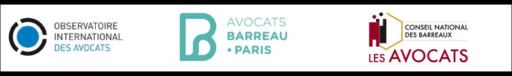 Logos CNB Barreau de Paris Observatoire des avocats en danger