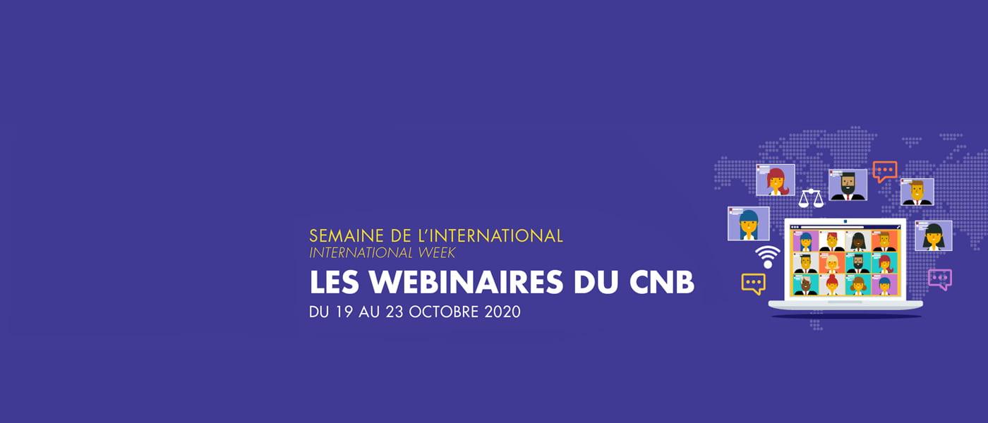 CNB Webinaires semaine de l'international