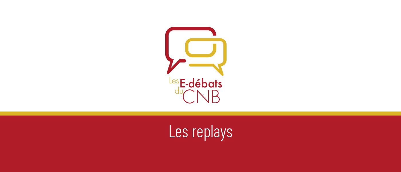 Bannière E-débats du CNB