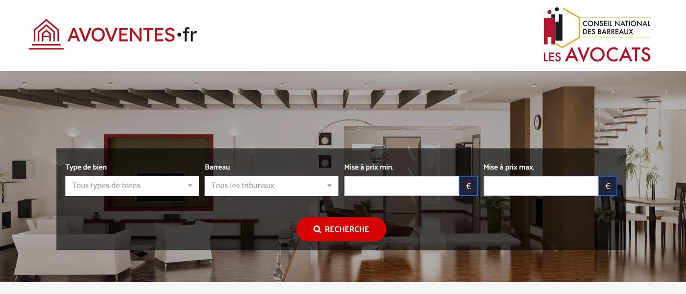 avoventes.fr plateforme en ligne de vente aux enchères immobilières